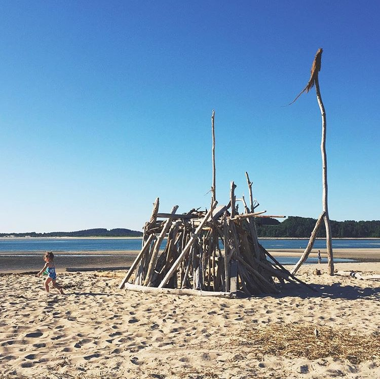 fort on the beach by jesse burke for childhood unplugged weekly hashtag